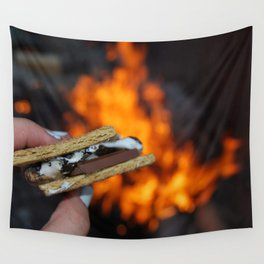 Campfire S'mores Wall Tapestry