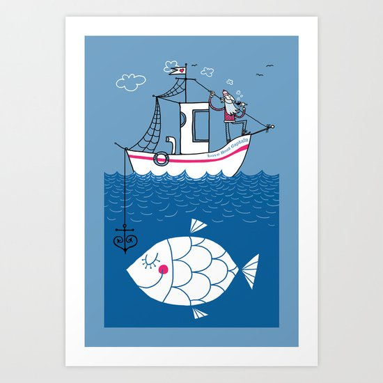 Love Boat Captain Art Print