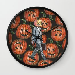 Pumpkinhead Paper Salesman Wall Clock