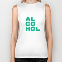 alcohol Biker Tanks featuring Alcohol by Bálint Magyar