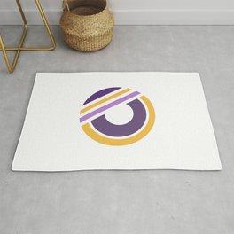 Geometric minimal purple yellow modern Rug