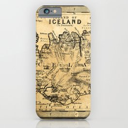 Old Map of Iceland iPhone Case