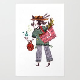Grimhilde the Grocery Witch  Art Print