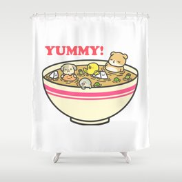 Yummy! Pet Bowl Shower Curtain