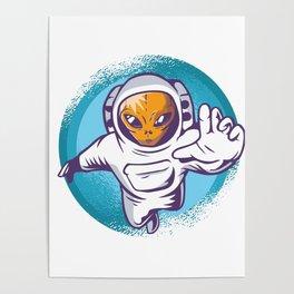 Alien Astronaut Poster
