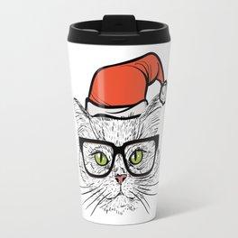 Santa Cat Travel Mug
