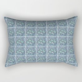 Busy Busy Busy... Dizzy Blue Rectangular Pillow