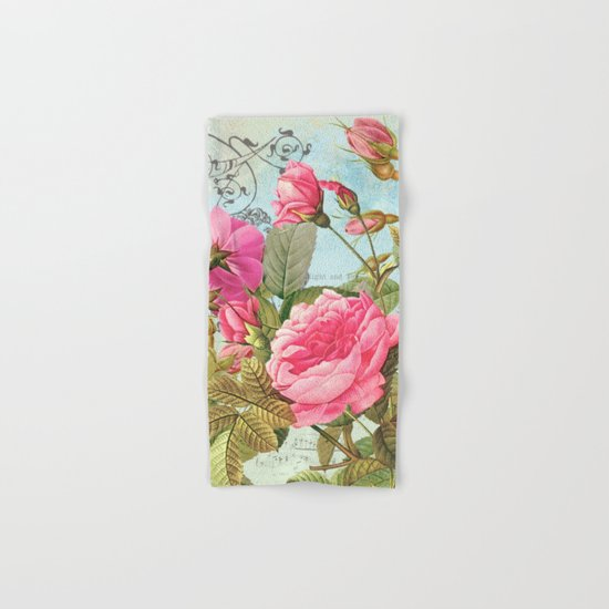 Vintage Flowers #3 Hand & Bath Towel
