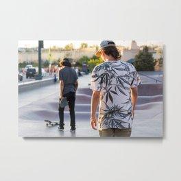 Broken Skateboard Metal Print