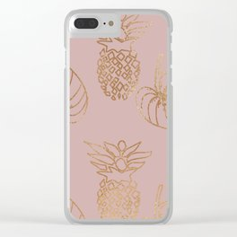 Gold Tropical Clear iPhone Case