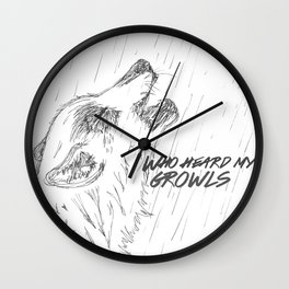 Growl Wall Clock