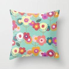 Colourful garden Throw Pillow