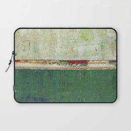 Limerick Irish Ireland Abstract Green Modern Art Landscape Laptop Sleeve