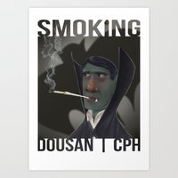 Smoking_03 Art Print