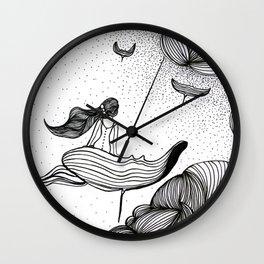 Floating on Mantas Wall Clock