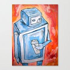 sleepy robot Canvas Print
