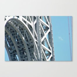 George Washington Bridge Arch Detail Canvas Print