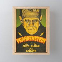 Frankenstein movie reproduction poster print Framed Mini Art Print