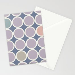 Scalloped Circles in Lilac Stationery Cards