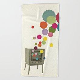 Colour Television Beach Towel