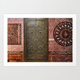 Gold Kaaba Door Art Print
