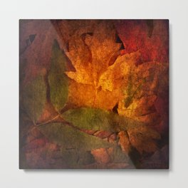Cycle III Modern ART Seasonal Autumn Design  Metal Print
