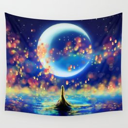 STARRY NIGHT MERMAID Wall Tapestry