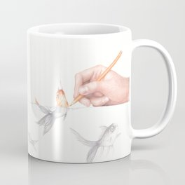 Goldfishing by Lars Furtwaengler | Colored Pencil | 2011 Coffee Mug