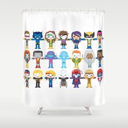 90's 'X-men' Robotics Shower Curtain