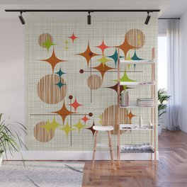 Starbursts and Globes Wall Mural