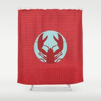 lobster Shower Curtains featuring Lobster by Mr and Mrs Quirynen