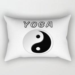 Yoga With Yin Yang Symbol Rectangular Pillow