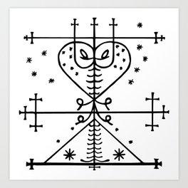 Maman Brigitte Veve Spirit World Blessings Voodoo Goddess Art Print