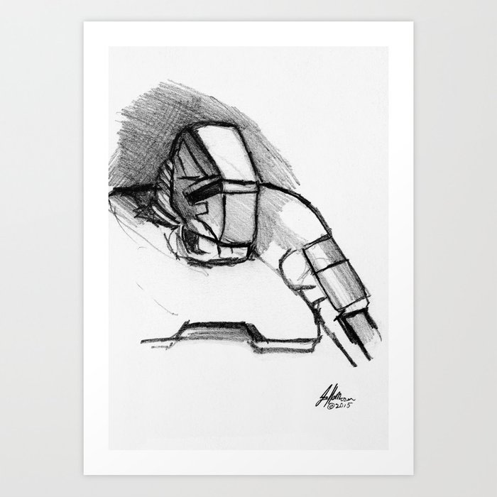 Warbot Sketch #060 Art Print