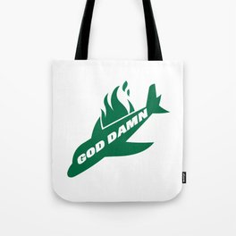 Jets God Dam Funny New York Football Tote Bag