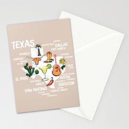 Classic Texas Icons Stationery Cards