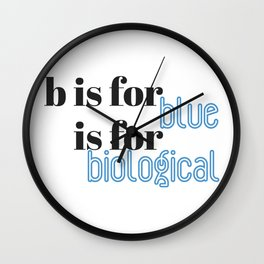 B is for Wall Clock