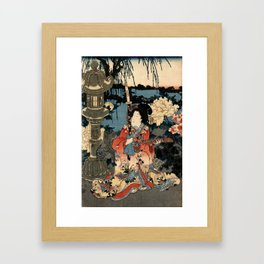 Garden of the Prosperous Blooms Triptych 1 Framed Art Print