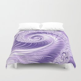 Ultra Violet Luxe Spiral Pattern | Trendy Color of the Year 2018 Duvet Cover