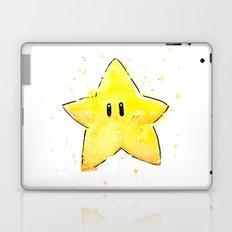 Invincibility Star Mario Watercolor Geek Gamer Art Laptop & iPad Skin
