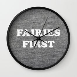 Fairies first Wall Clock