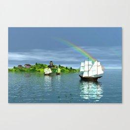 Reise zur Insel Canvas Print