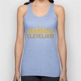 Vintage Style Cleveland Ohio Skyline Unisex Tank Top