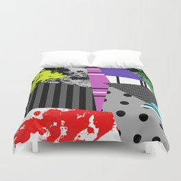Pick A pattern II - geometric, textured, colourful, splatter, stripes, marble, polka dot, grid Duvet Cover