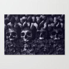 Skulls - Paris Catacombs, tinted version Canvas Print