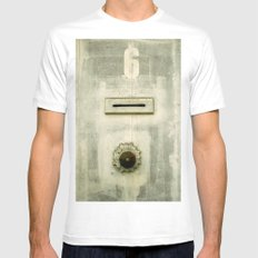 Old 6  MEDIUM White Mens Fitted Tee