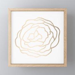 Flower in White Gold Sands Framed Mini Art Print