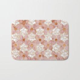 Rose Gold Art Deco Butterfly Pattern Bath Mat