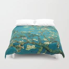 Vincent Van Gogh Blossoming Almond Tree Duvet Cover