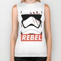 rebel Biker Tanks featuring REBEL by Bertoni Lee